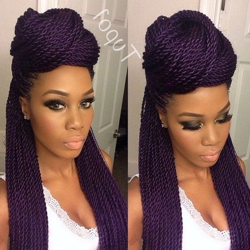 40 Senegalese Twist Hairstyles For Black Women | Herinterest/ Within Two Toned Twist Updos For Wedding (View 5 of 25)
