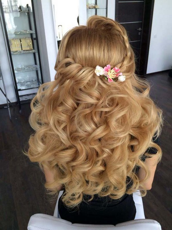 40 Stunning Half Up Half Down Wedding Hairstyles With Tutorial Regarding Easy Cute Gray Half Updo Hairstyles For Wedding (View 6 of 25)