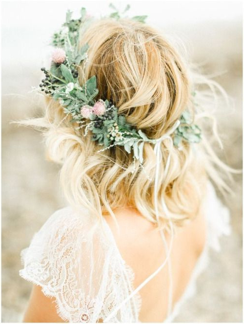 40 Wedding Hairstyles For Short To Mid Length Hair | Herinterest/ Throughout Wild Waves Bridal Hairstyles (View 11 of 25)