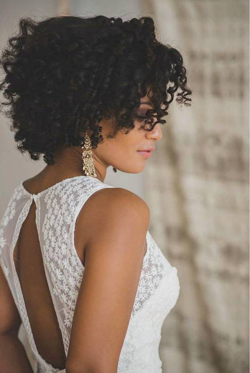 41 Wedding Hairstyles For Black Women To Drool Over 2018 Pertaining To Curled Bridal Hairstyles With Tendrils (View 25 of 25)