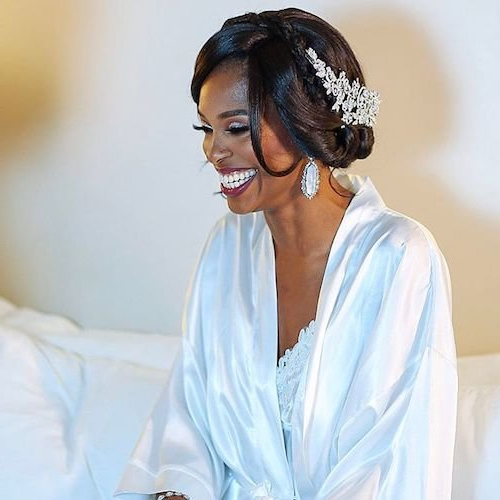 41 Wedding Hairstyles For Black Women To Drool Over 2018 Throughout Short And Flat Updo Hairstyles For Wedding (View 25 of 25)