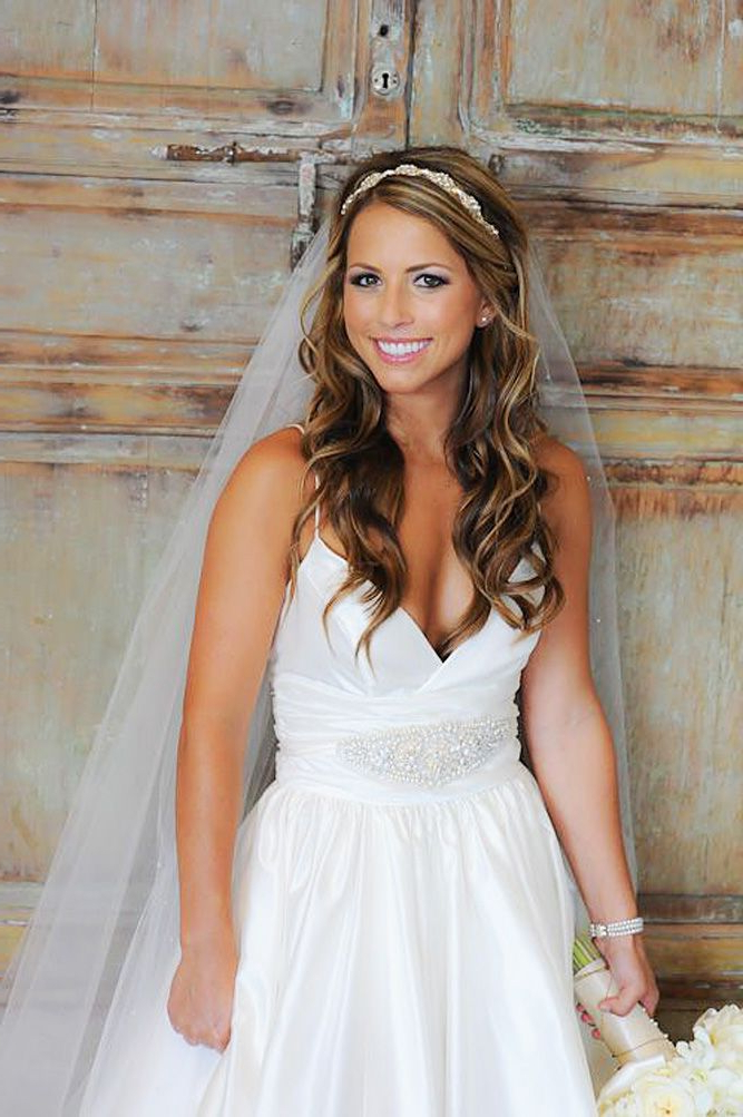 42 Wedding Hairstyles With Veil | Army Wedding | Pinterest | Wedding Intended For Crown Braid, Bouffant And Headpiece Bridal Hairstyles (View 14 of 25)