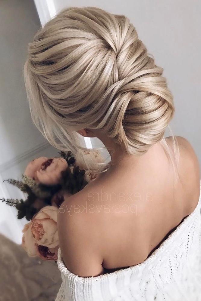 42 Wedding Updos For Long Hair | Coafura In Ziua Nuntii | Wedding Within Sleek Low Bun Rosy Outlook Wedding Updos (View 4 of 25)