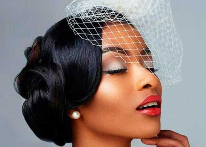 43 Black Wedding Hairstyles For Black Women – Hairstyles & Haircuts Regarding Curly Bridal Bun Hairstyles With Veil (View 18 of 25)