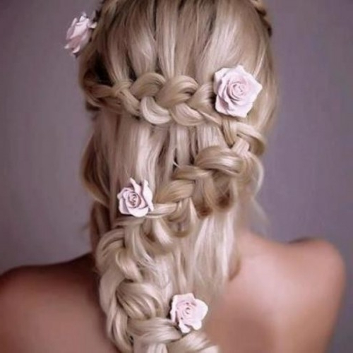 45 Braided Wedding Hairstyles Ideas – Weddingomania Pertaining To Braided Lavender Bridal Hairstyles (View 24 of 25)
