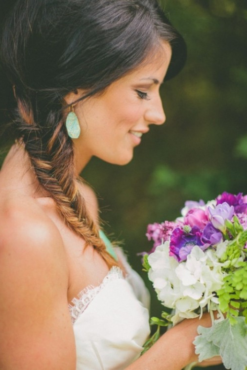 45 Braided Wedding Hairstyles Ideas – Weddingomania With Short Side Braid Bridal Hairstyles (View 23 of 25)