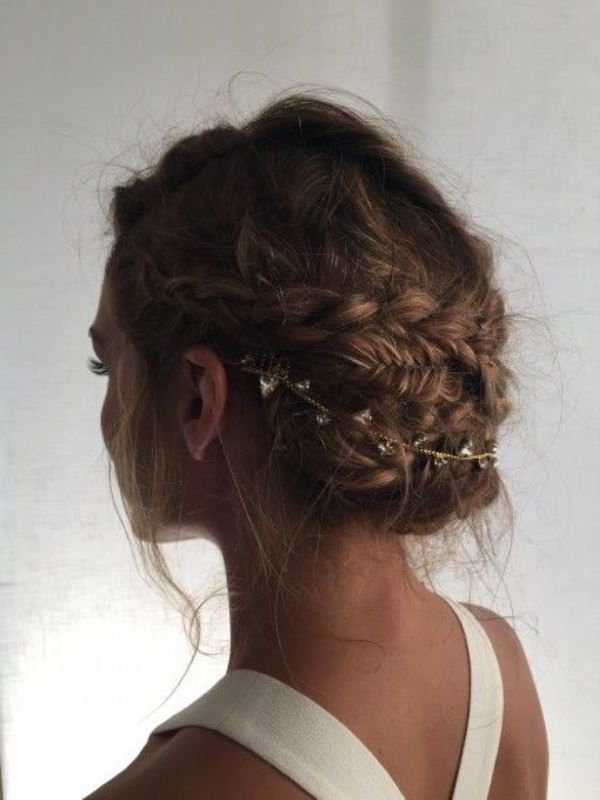 45 Charming Bride's Wedding Hairstyles For Naturally Curly Hair Intended For Large Bun Wedding Hairstyles With Messy Curls (View 13 of 25)