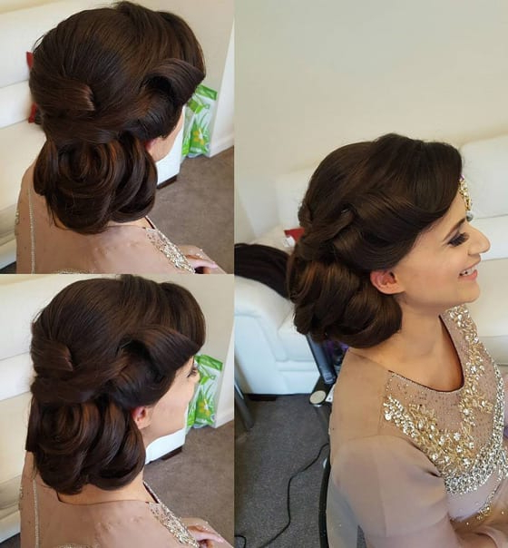 5 Beautiful Wedding Updos Inspiredindia Within Twisted Side Updo Hairstyles For Wedding (View 13 of 25)