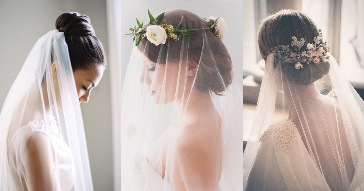 5 Chic Bridal Hairstyles That Look Good With Veils! – Praise Wedding With Regard To Bridal Chignon Hairstyles With Headband And Veil (View 13 of 25)