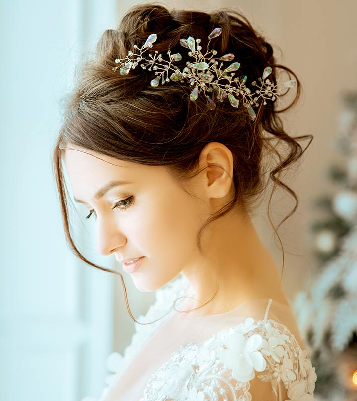 50 Best Hairstyles Of This Wedding Season With Bridal Mid Bun Hairstyles With A Bouffant (View 21 of 25)