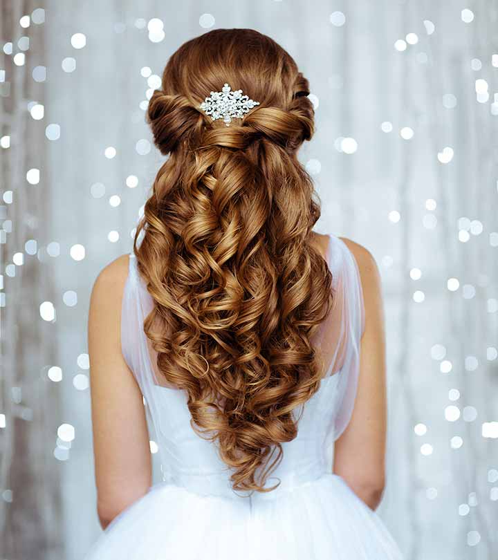 50 Bridal Hairstyle Ideas For Your Reception For Large Bun Wedding Hairstyles With Messy Curls (View 15 of 25)