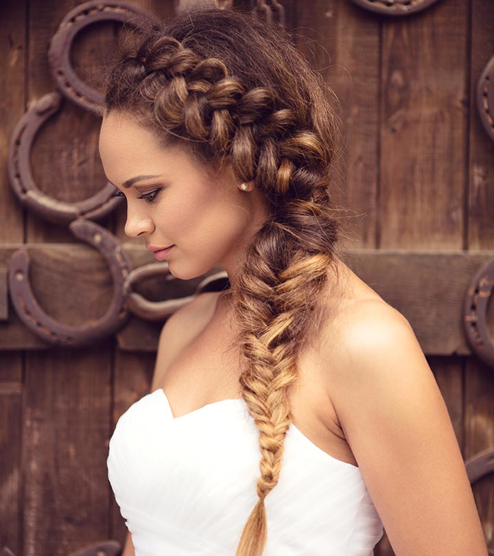 50 Bridal Styles For Long Hair! Within Double Braided Look Wedding Hairstyles For Straightened Hair (View 5 of 25)
