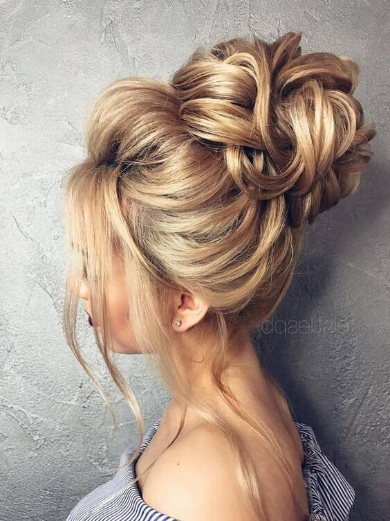 50 Chic Messy Bun Hairstyles | Fashion – Beauty | Pinterest | Hair In Messy Buns Updo Bridal Hairstyles (View 2 of 25)