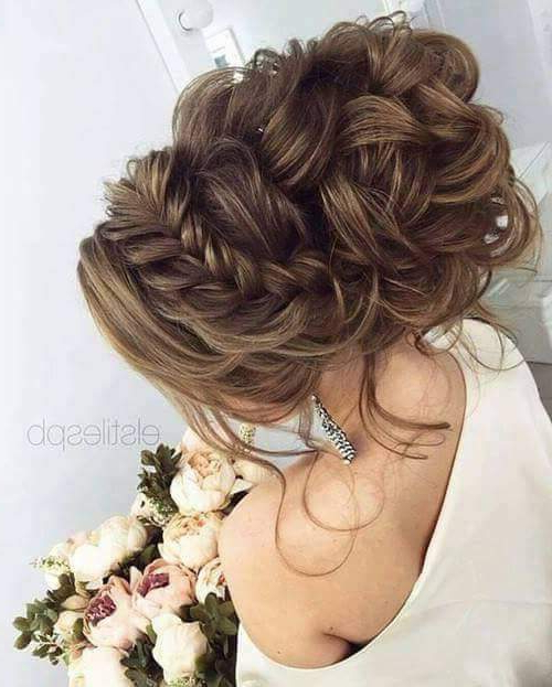 50+ Chic Wedding Hairstyles For The Perfect Bridal Look Regarding Voluminous Chignon Wedding Hairstyles With Twists (View 25 of 25)