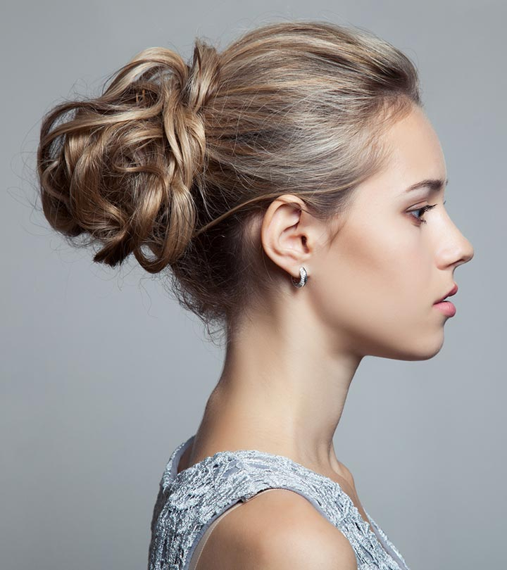 50 Gorgeous Short Updo Hairstyles Pertaining To Bridal Mid Bun Hairstyles With A Bouffant (View 7 of 25)