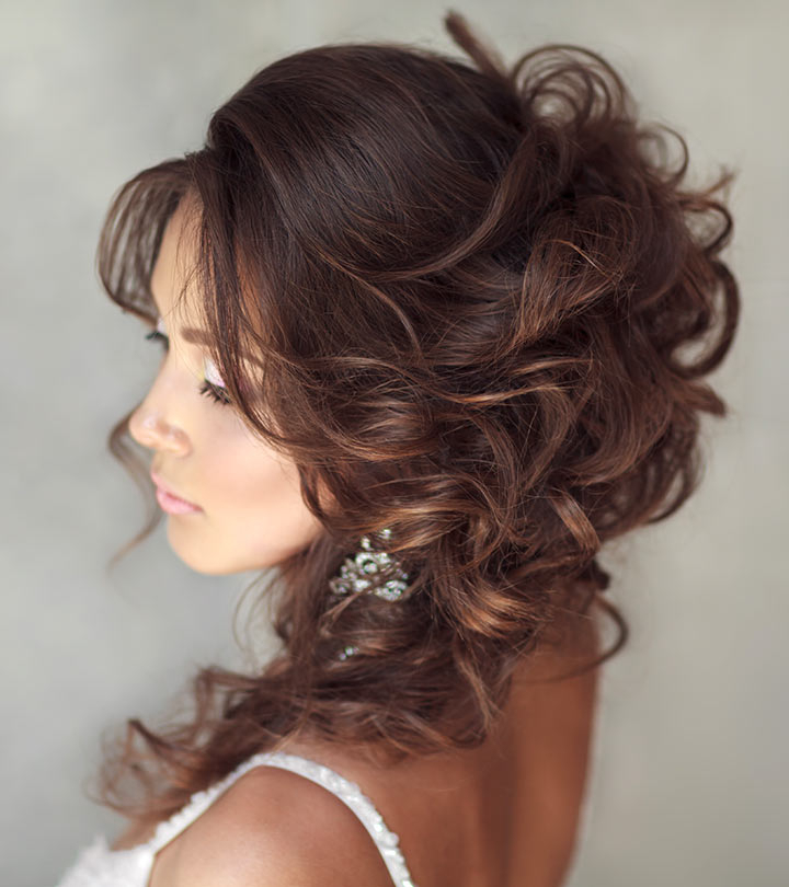 50 Hairstyles For Frizzy Wavy Hair Inside Pinned Back Tousled Waves Bridal Hairstyles (View 13 of 25)