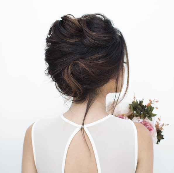 50 Insanely Romantic Wedding Hairstyles For 2018 – Style Skinner Throughout Voluminous Chignon Wedding Hairstyles With Twists (View 4 of 25)