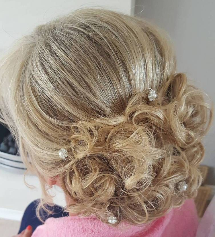 Featured Photo of Curly Blonde Updo Hairstyles For Mother Of The Bride