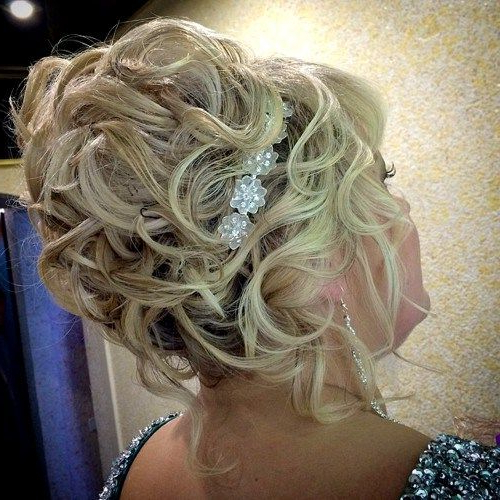 50 Ravishing Mother Of The Bride Hairstyles | Hair Styles | Bride Pertaining To Curly Blonde Updo Hairstyles For Mother Of The Bride (View 3 of 25)