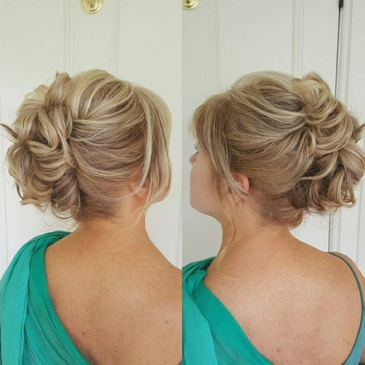 50 Ravishing Mother Of The Bride Hairstyles In 2019   Hair Styles In Messy Woven Updo Hairstyles For Mother Of The Bride (View 2 of 25)