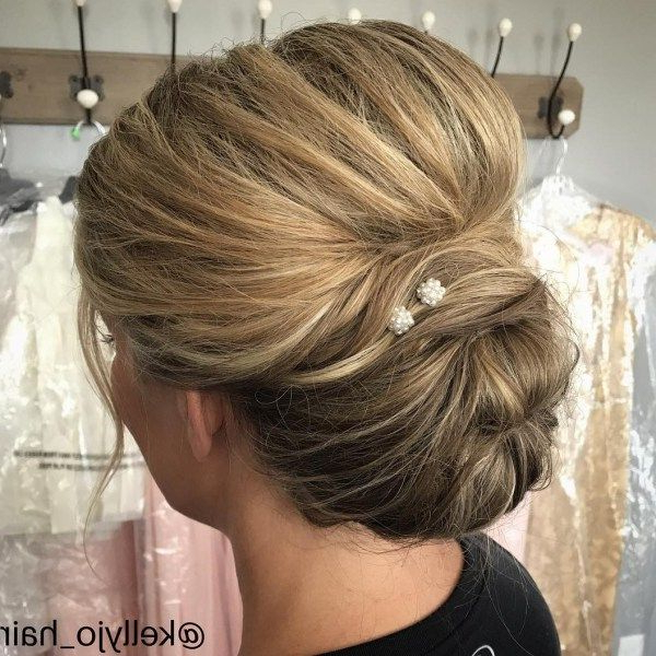 50 Ravishing Mother Of The Bride Hairstyles In 2019 | Wedding Ideas Intended For Bouffant And Chignon Bridal Updos For Long Hair (View 20 of 25)
