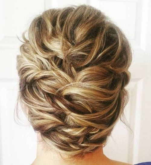 50 Ravishing Mother Of The Bride Hairstyles   Mother Of The Bride Throughout Messy Woven Updo Hairstyles For Mother Of The Bride (View 4 of 25)
