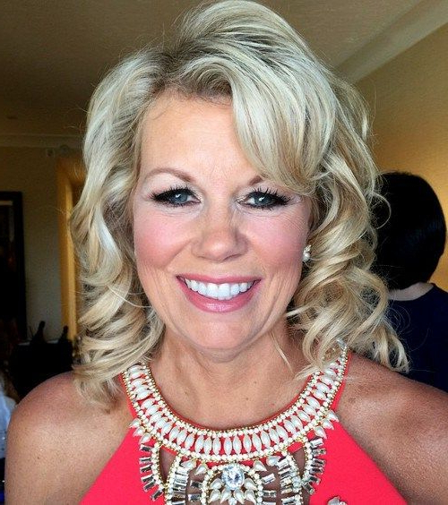 50 Ravishing Mother Of The Bride Hairstyles | One Day | Mother Of In Curly Blonde Updo Hairstyles For Mother Of The Bride (View 19 of 25)
