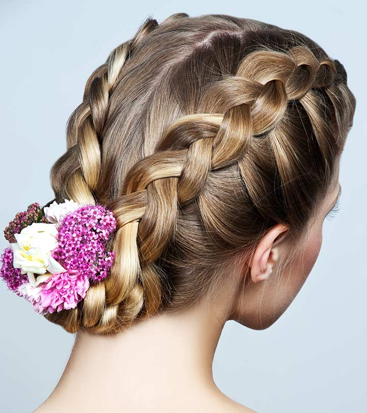 50 Splendid Edgy Long Length Hairstyles! Regarding Embellished Caramel Blonde Chignon Bridal Hairstyles (View 15 of 25)