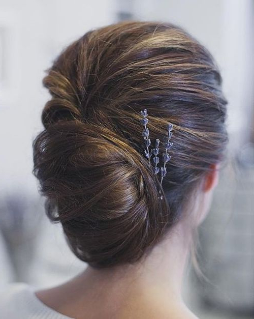50 Stylish French Twist Updos | French Twists | Hair Styles, Hair Regarding Sleek French Knot Hairstyles With Curls (View 2 of 25)