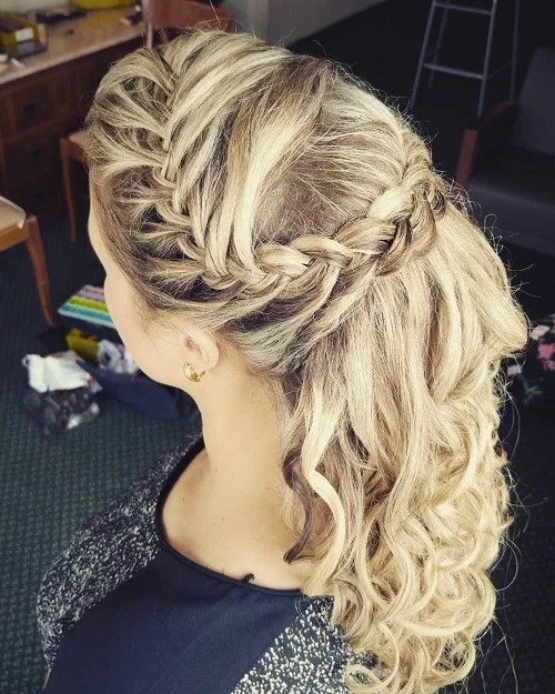 50 Stylish Half Up Half Down Wedding Hairstyles – Page 32 Of 51 For Highlighted Braided Crown Bridal Hairstyles (View 9 of 25)