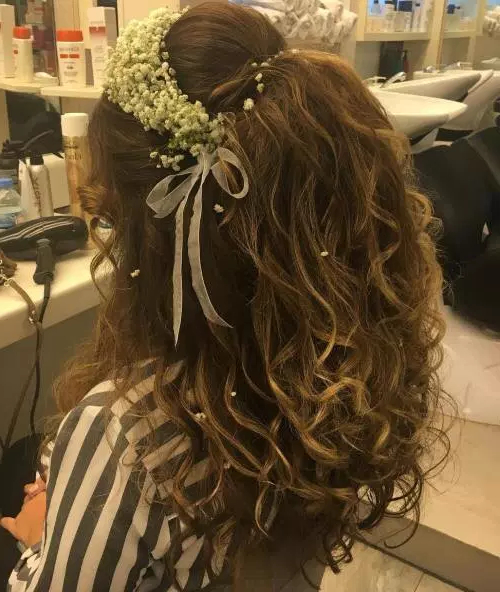 50 Stylish Half Up Half Down Wedding Hairstyles – Page 9 Of 51 Pertaining To Teased Half Up Bridal Hairstyles With Headband (View 14 of 25)
