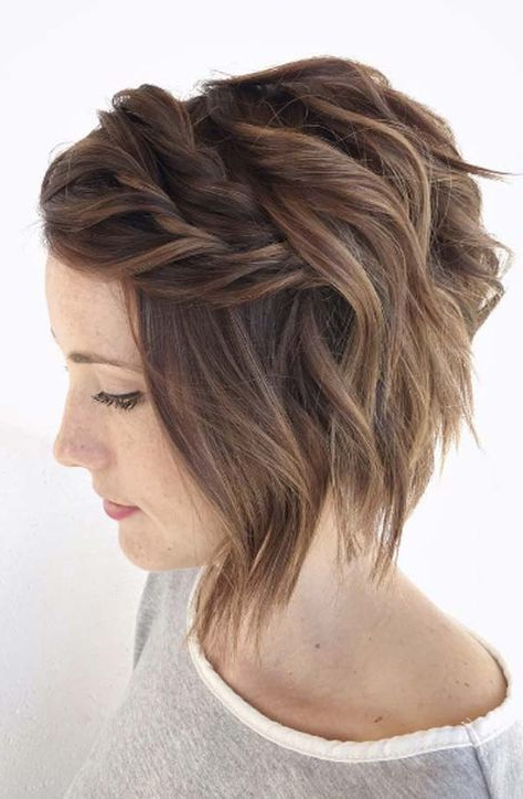 50 Trendy Ways To Braid Short Hair | Hair | Short Hair Styles, Hair Throughout Braided Bob Short Hairdo Bridal Hairstyles (View 3 of 25)