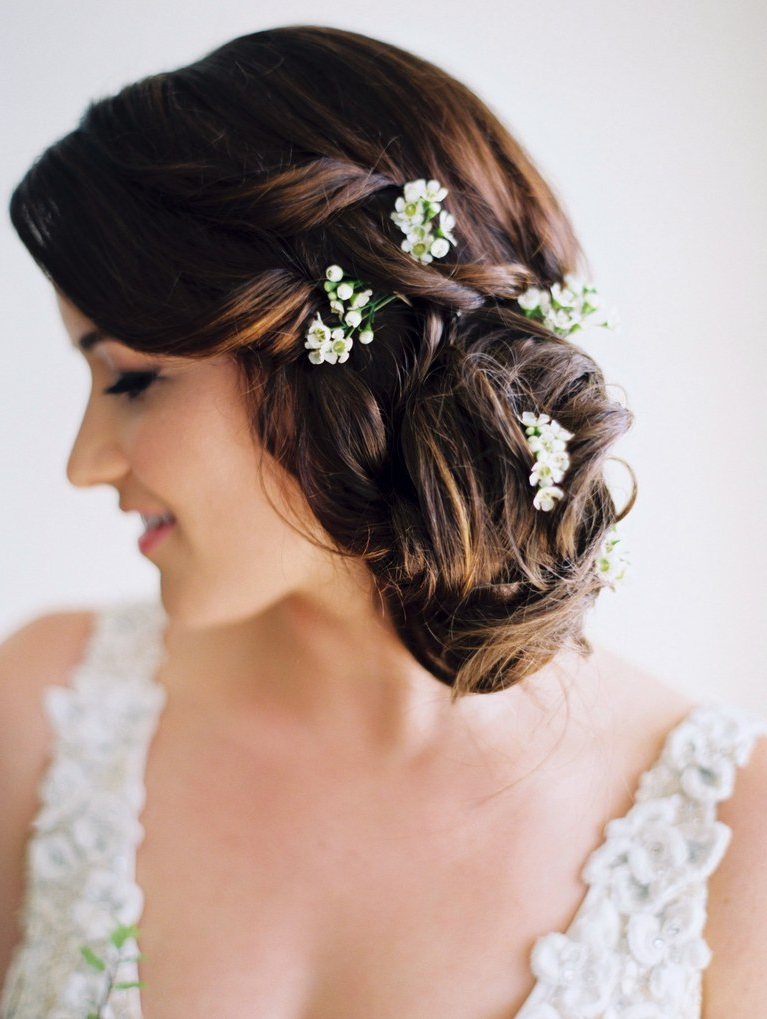 51 Romantic Wedding Hairstyles | Brides For Swirled Wedding Updos With Embellishment (View 11 of 25)