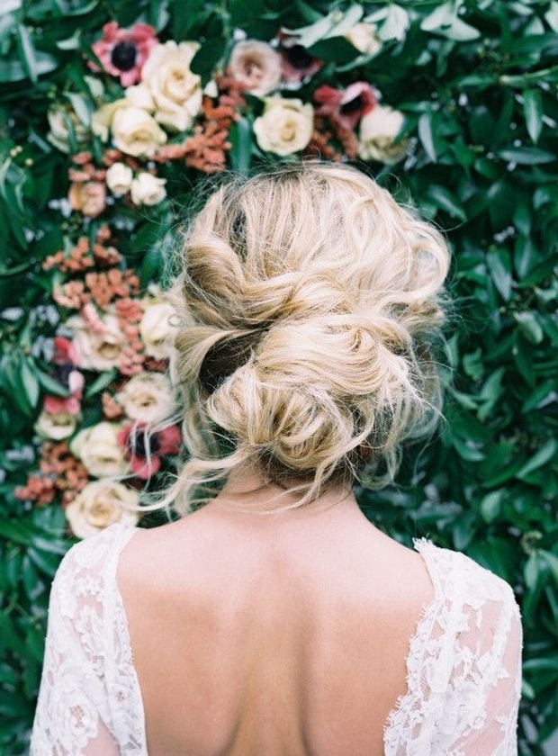 51 Romantic Wedding Hairstyles | Brides Throughout Swirled Wedding Updos With Embellishment (View 19 of 25)