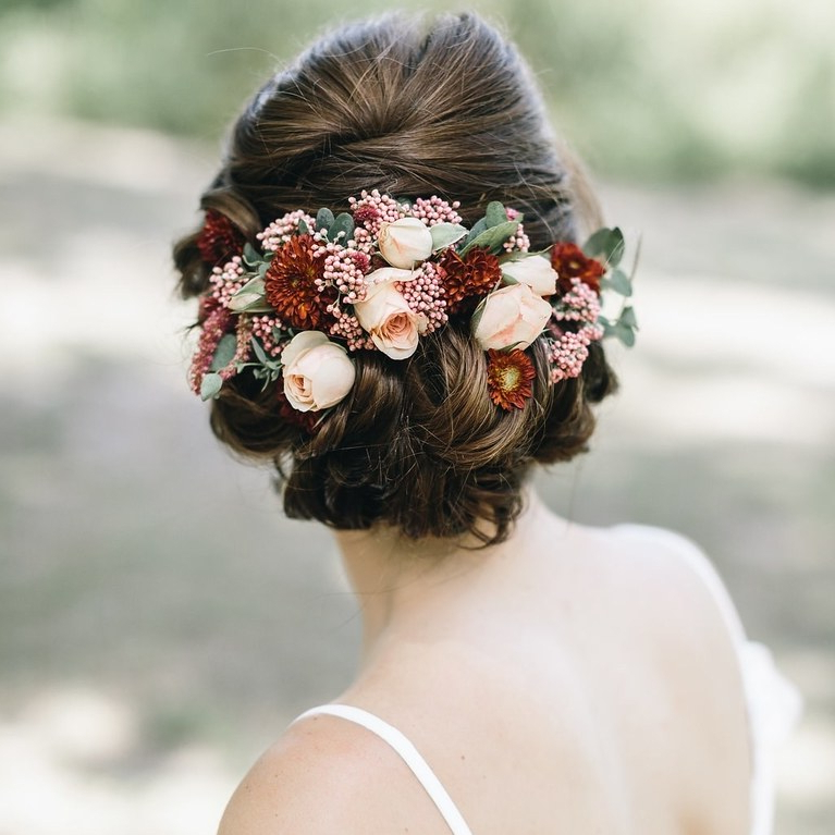 51 Romantic Wedding Hairstyles | Brides Within Delicate Curly Updo Hairstyles For Wedding (View 19 of 25)