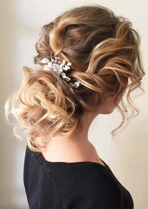 53 Swanky Wedding Updos For Every Bride To Be – Glowsly Pertaining To Twisted Side Updo Hairstyles For Wedding (View 6 of 25)