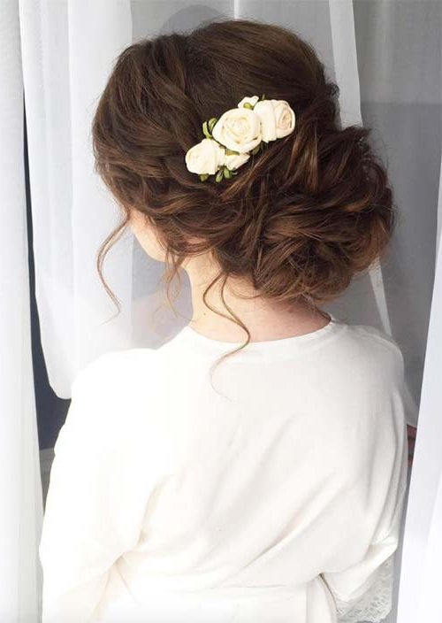 53 Swanky Wedding Updos For Every Bride To Be – Glowsly Pertaining To Voluminous Side Wedding Updos (View 19 of 25)