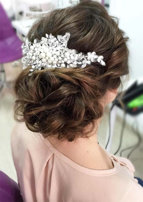 53 Swanky Wedding Updos For Every Bride To Be – Glowsly Throughout Twisted Side Updo Hairstyles For Wedding (View 8 of 25)