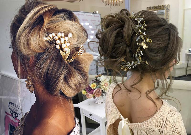 53 Swanky Wedding Updos For Every Bride To Be – Glowsly With Sleek And Voluminous Beehive Bridal Hairstyles (View 20 of 25)