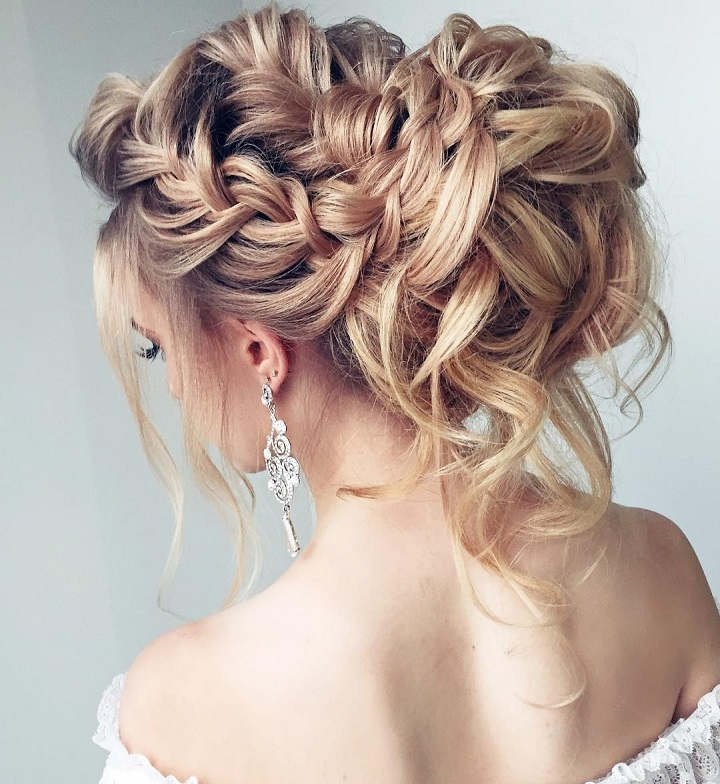 55 Amazing Updo Hairstyles With The Wow Factor – Fabmood | Wedding Intended For Wedding Semi Updo Bridal Hairstyles With Braid (View 25 of 25)