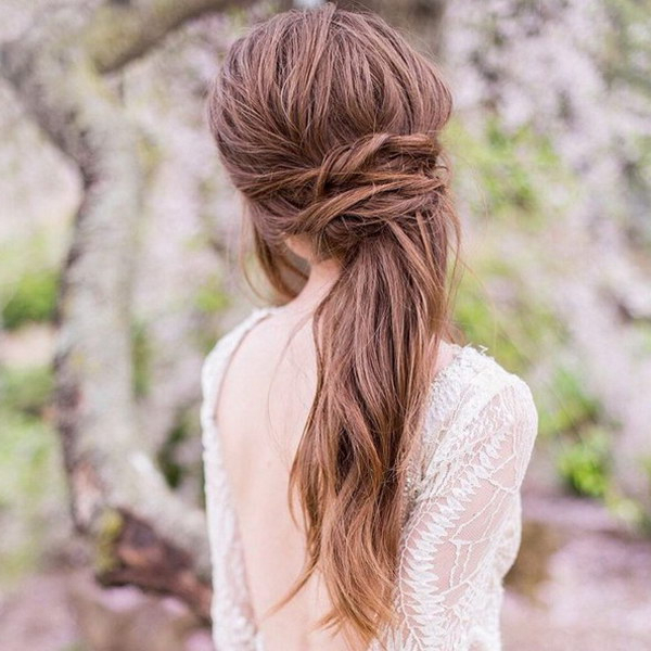 55+ Stunning Half Up Half Down Hairstyles Intended For Medium Half Up Half Down Bridal Hairstyles With Fancy Knots (View 13 of 25)