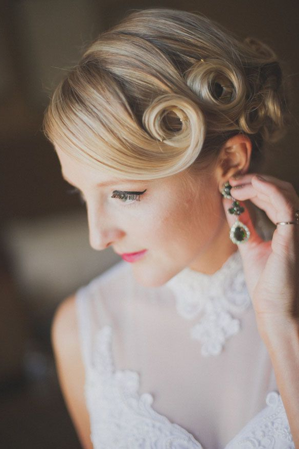 57 Beautiful Vintage Wedding Hairstyles Ideas | Wedding Hair & Color Throughout Pin Up Curl Hairstyles For Bridal Hair (View 3 of 25)