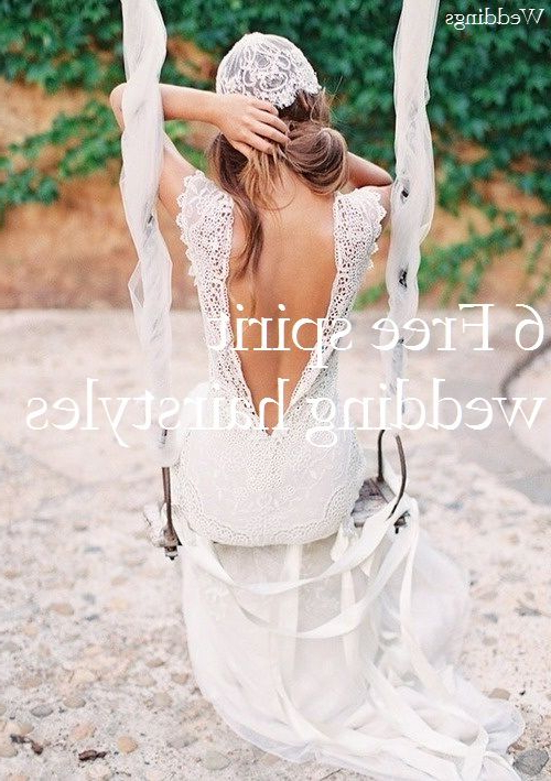 6 Glamorous Free Spirit Wedding Hairstyles | H A I R | Wedding Pertaining To Bohemian And Free Spirited Bridal Hairstyles (View 19 of 25)