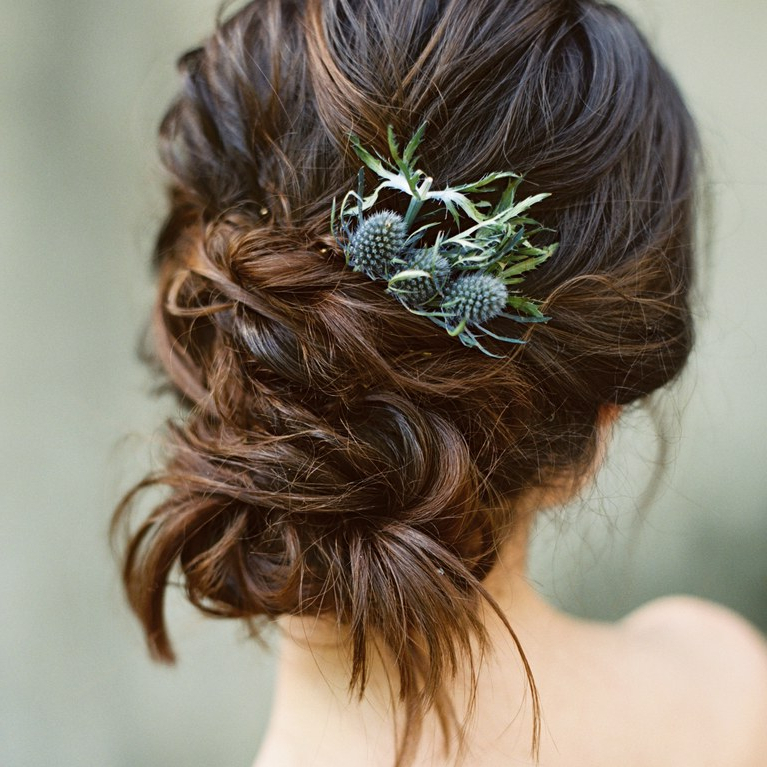 6 Instagram Worthy Wedding Hairstyles For Brides With Naturally Regarding Embellished Twisted Bun For Brides (Gallery 10 of 25)