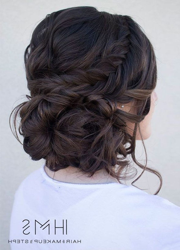 6 Romantic Wedding Hairstyles That Will Make Him Fall In Love All With Woven Updos With Tendrils For Wedding (View 3 of 25)