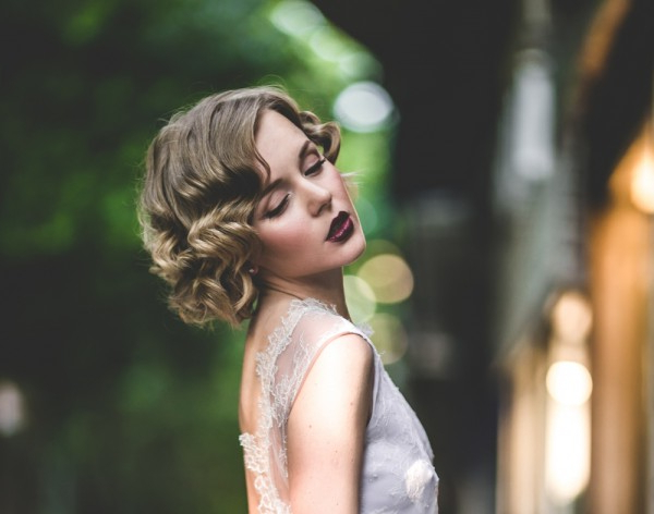 6 Stunning Bridal Hairstyles For Short Hair Pertaining To Retro Glam Wedding Hairstyles (View 23 of 25)