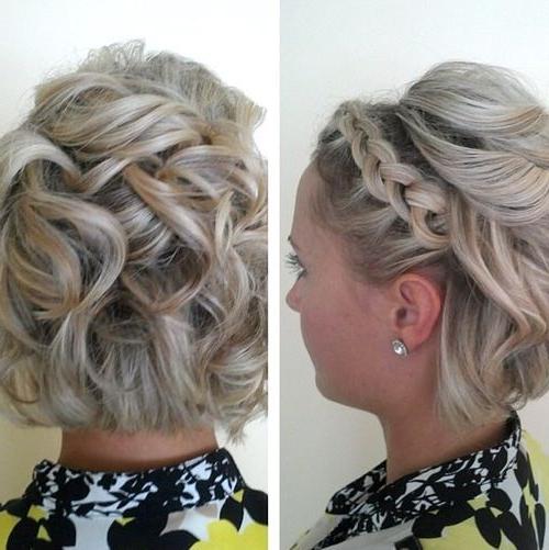 60 Creative Updo Ideas For Short Hair | Hair <3 | Short Hair Styles In Braided Bob Short Hairdo Bridal Hairstyles (Gallery 2 of 25)