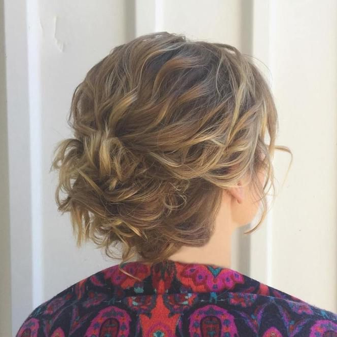 60 Creative Updo Ideas For Short Hair | Hair | Short Hair Styles With Loose Wedding Updos For Short Hair (View 5 of 25)