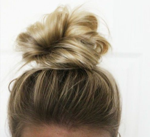 60 Creative Updo Ideas For Short Hair | Simple Beauty | Pinterest Regarding Messy Bun Wedding Hairstyles For Shorter Hair (Gallery 4 of 25)