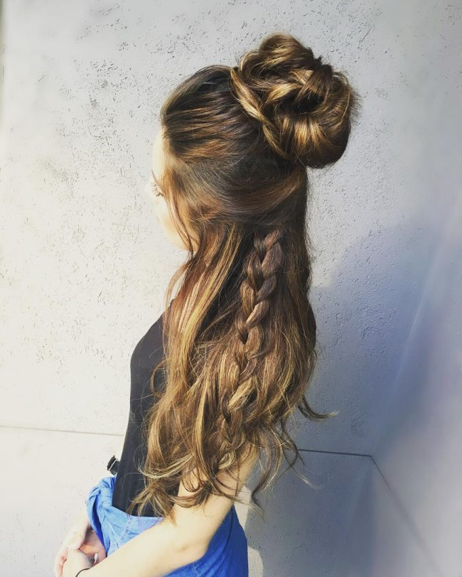 60 Cute Easy Half Up Half Down Hairstyles: Wedding, Prom With Regard To Easy Cute Gray Half Updo Hairstyles For Wedding (View 14 of 25)